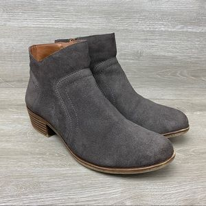 Lucky Brand Brolley Suede Leather Zip Ankle Boots